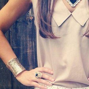 Kendra Scott Ainsley Cuff Bracelet In Gold